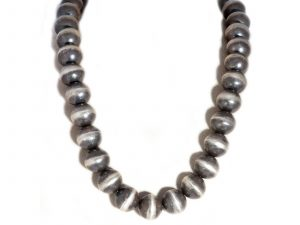 Single Strand Large Navajo Pearl Necklace