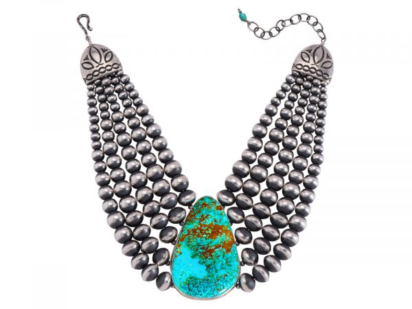 Five Strand Navajo Pearl Turquoise Necklace
