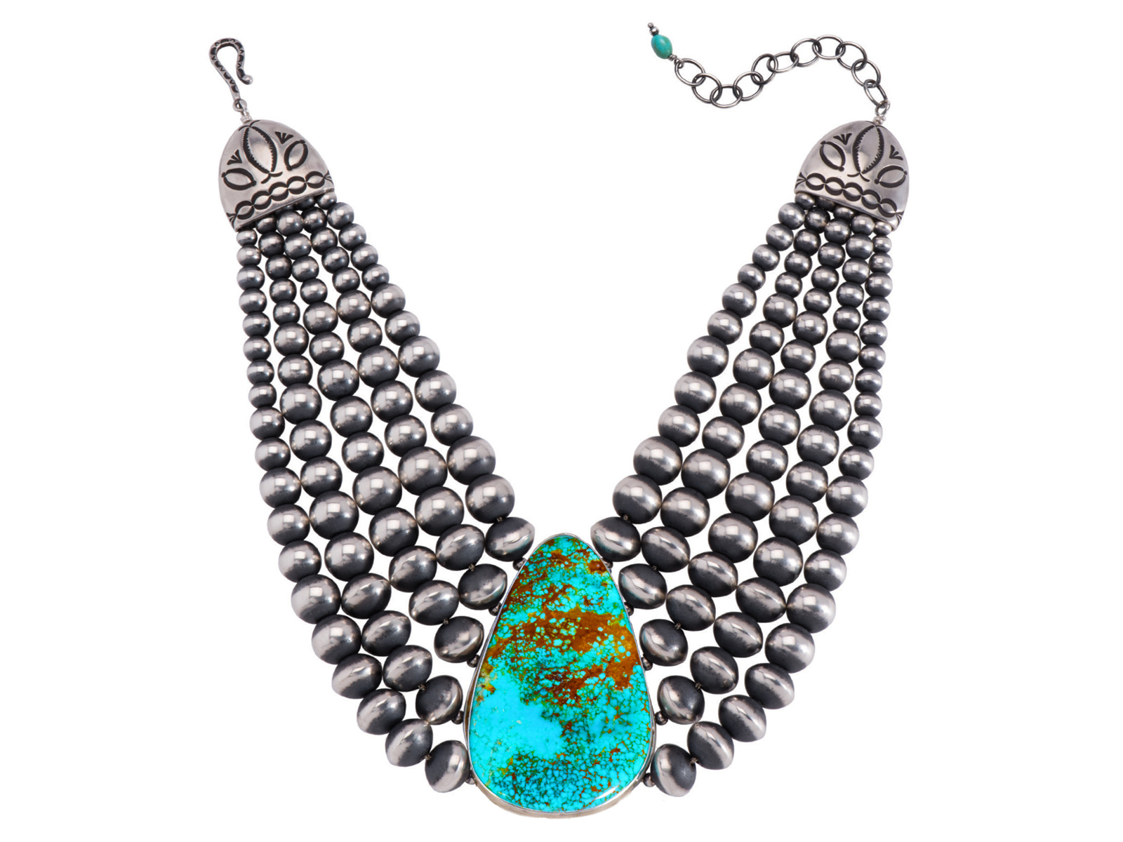 graduated heishi silver shop and eagle sleeping necklace gallery turquoise disc beauty