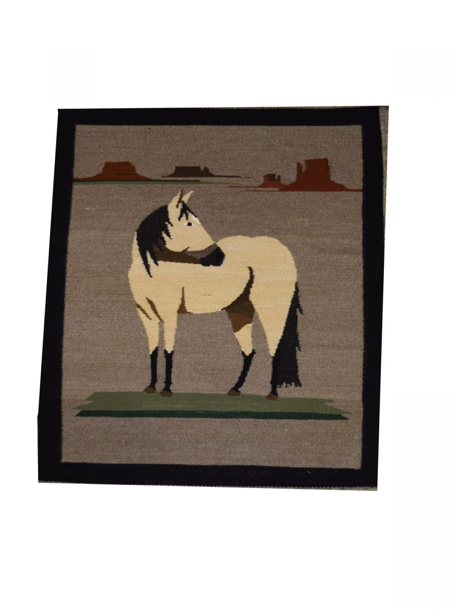 Navajo-Rug-Pictorial-White-Horse