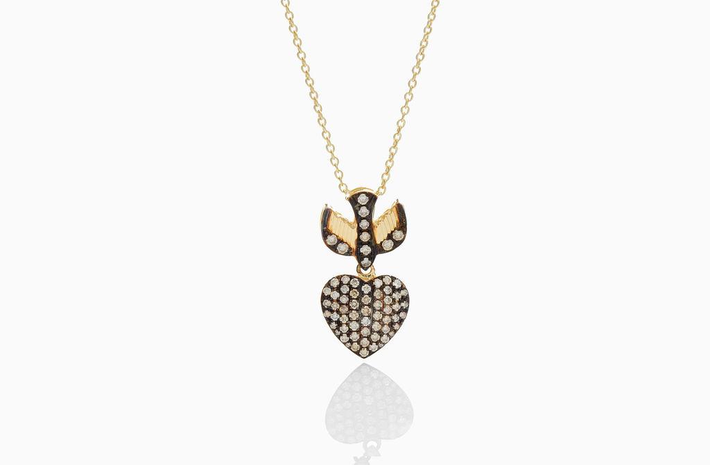 Bird Heart Necklace