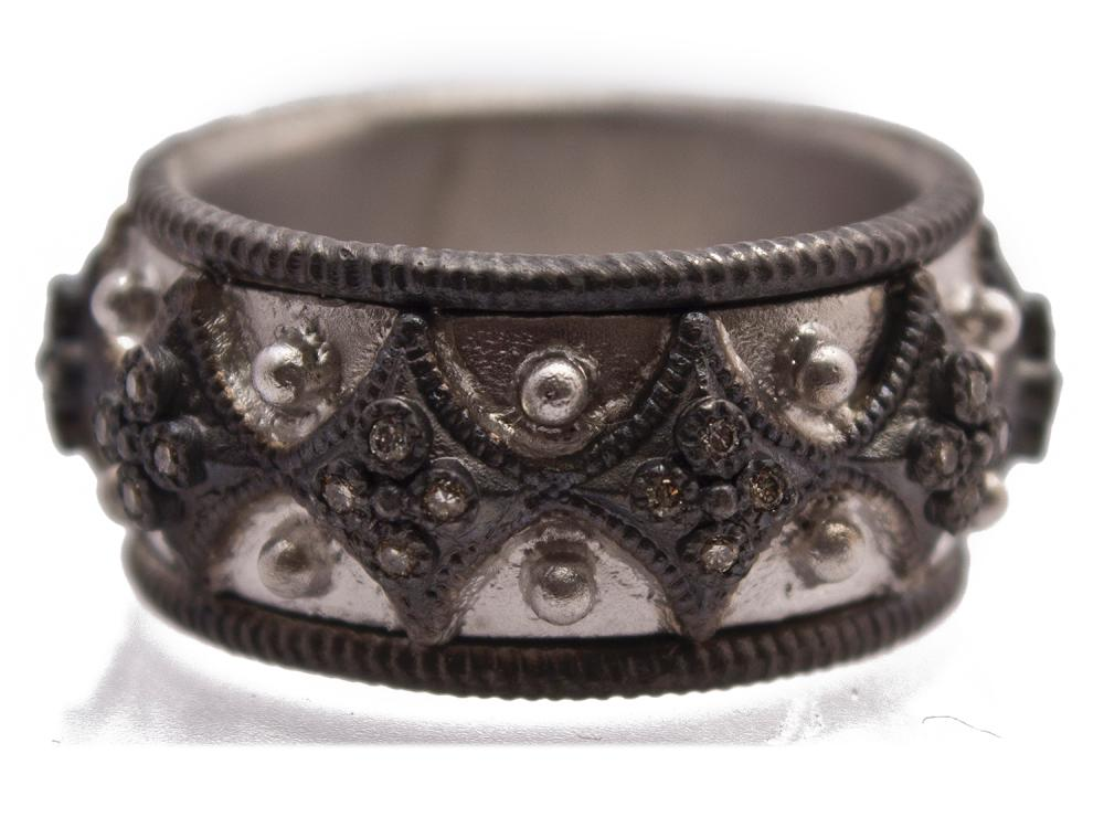 Wide Silver Crivelli Ring