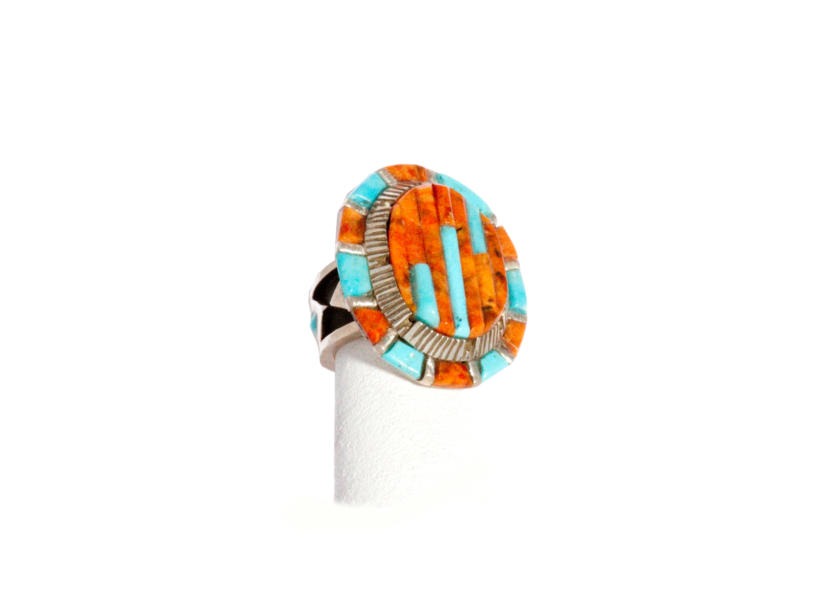 Turquoise Coral Inlayed Ring
