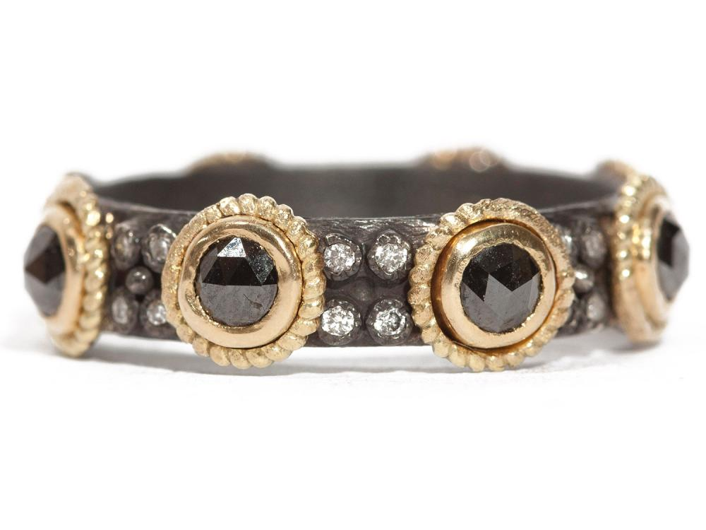 Black Sapphire Stack Ring
