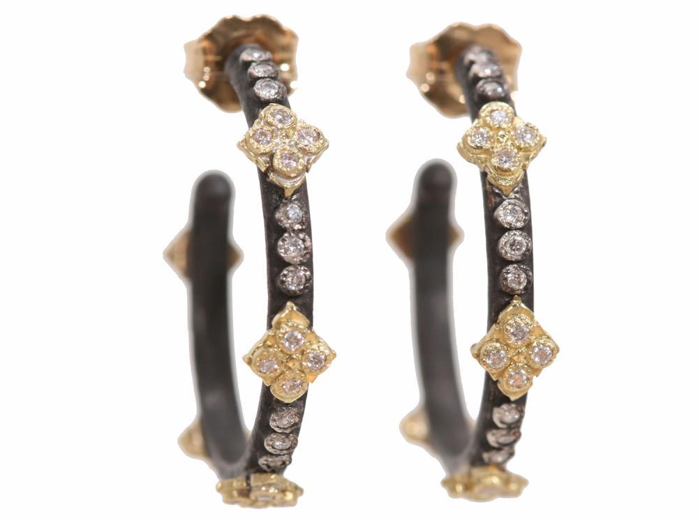 Small Crivelli Gold Silver Hoop Earrings