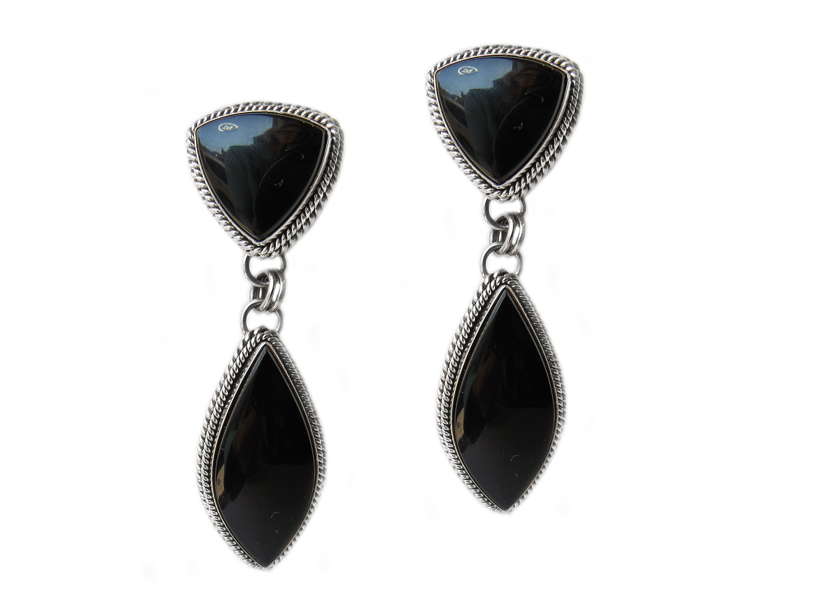 Double Drop Onyx Earrings