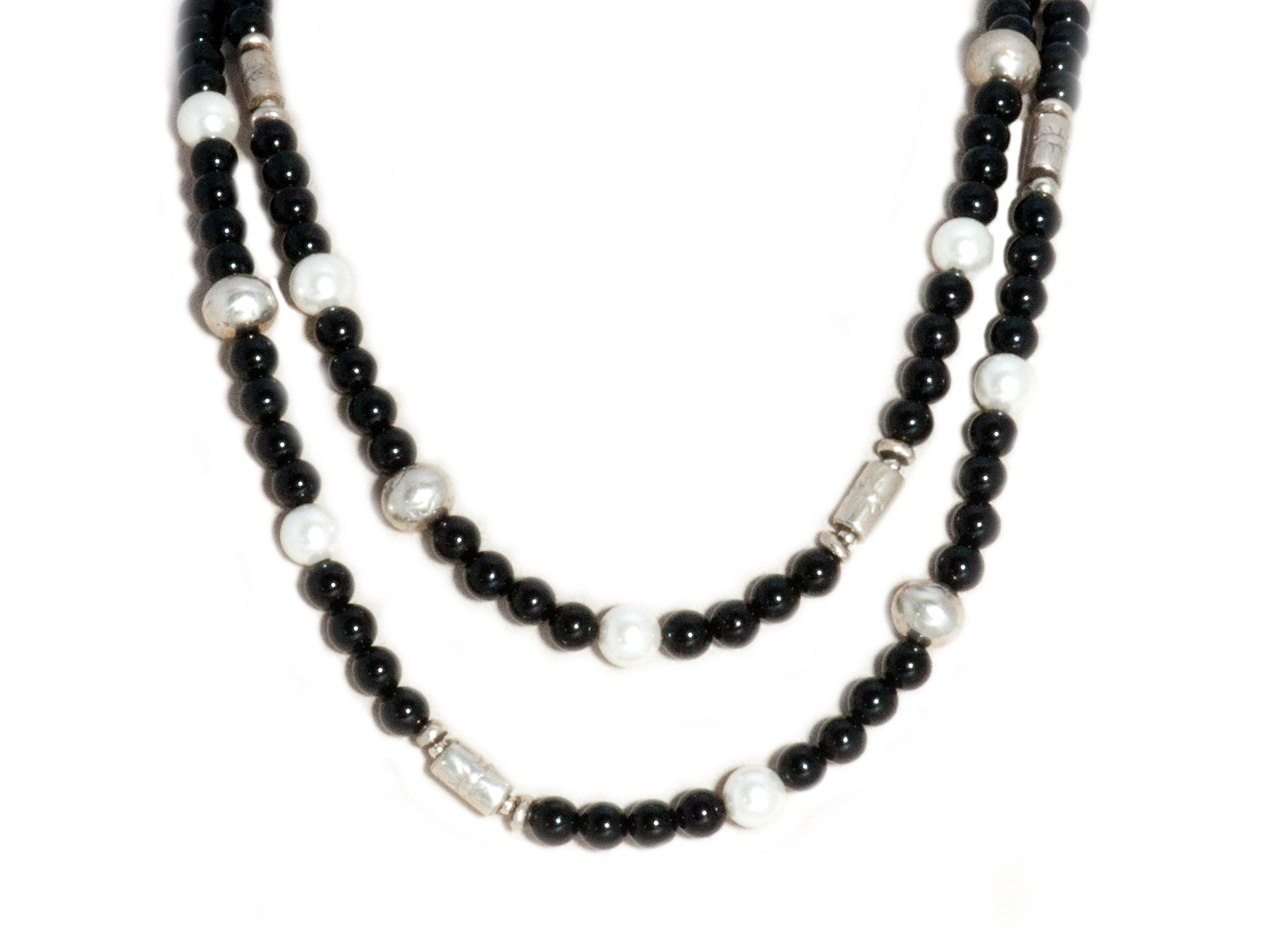 Onyx Pearl Necklace