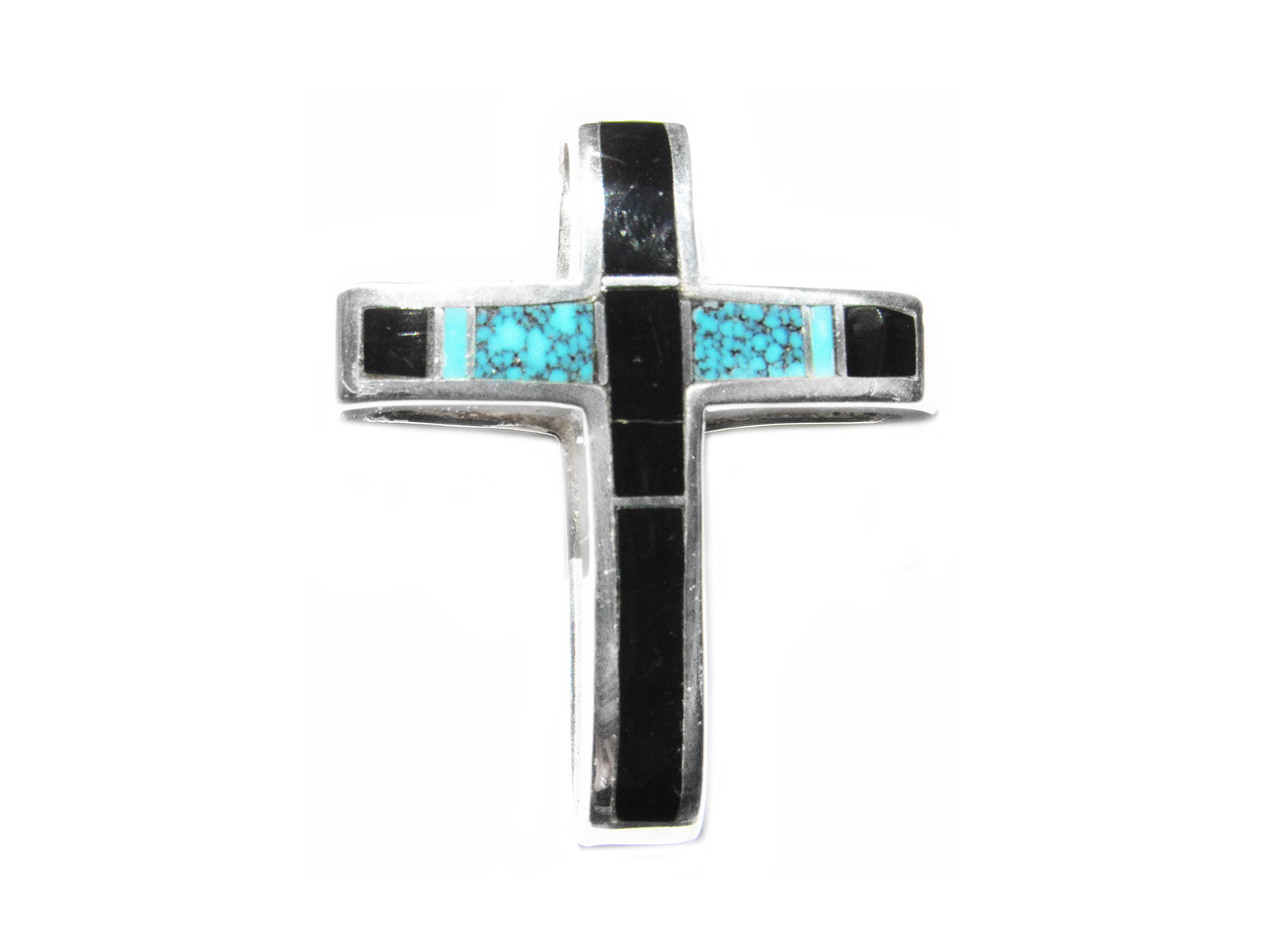 Sterling Silver Cross Pendant Inlay
