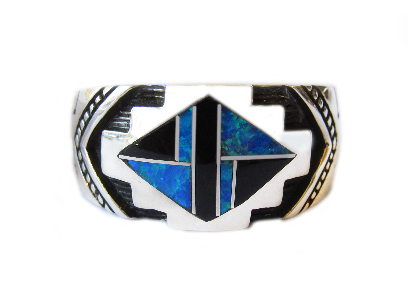 Onyx Turquoise Inlay Ring