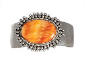 Orange Spiny Oyster Cuff