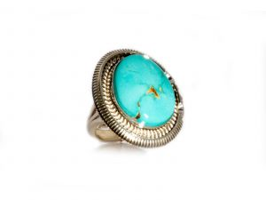 Oval Royston Turquoise Ring