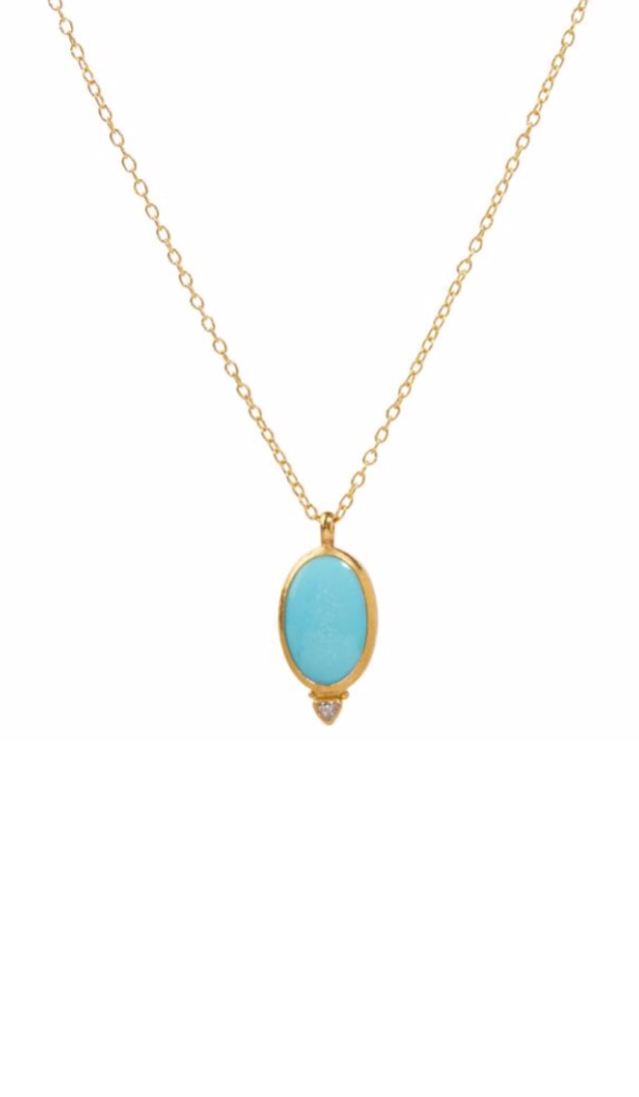 Amulet Hue Turquoise Diamond Necklace