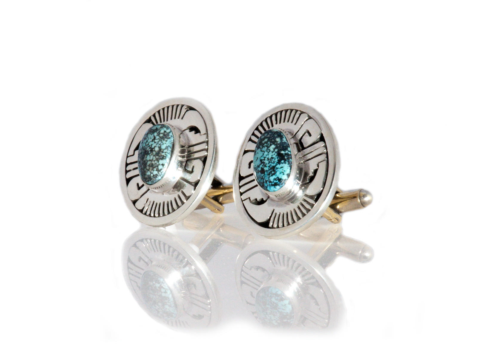 Oval Turquoise Cufflinks