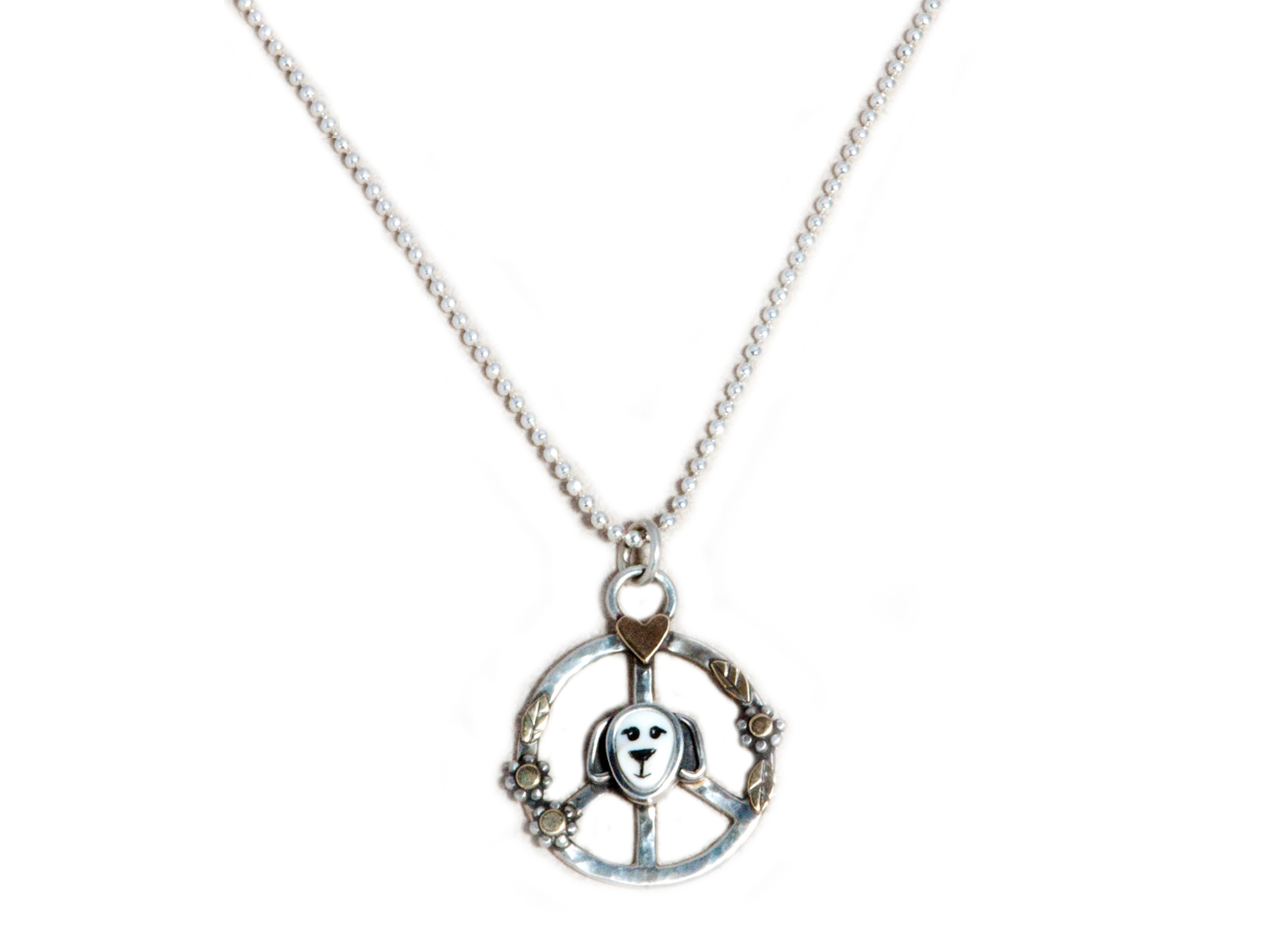 Peace Puppy Necklace