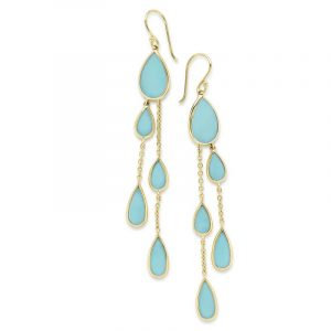 Pear Turquoise Earrings