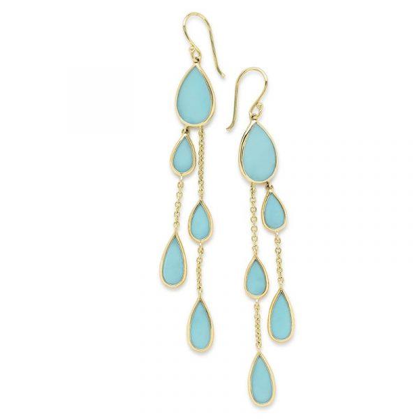 Pear Turquoise Earrings
