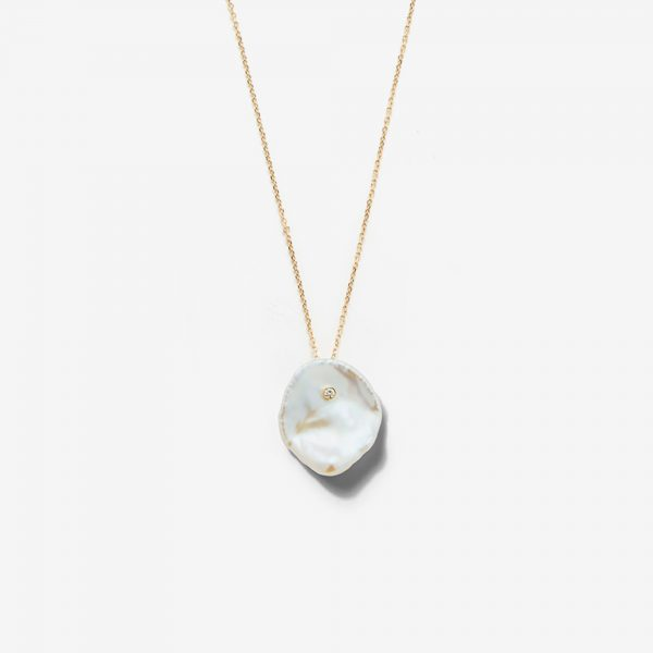 Petal Pearl and Diamond Necklace