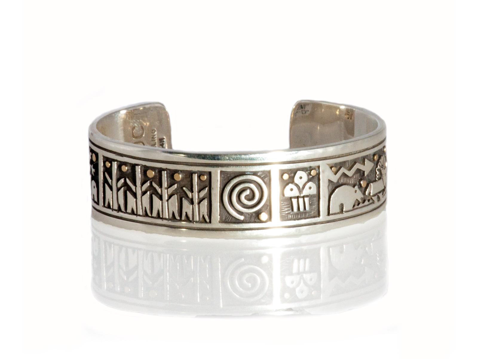 Pueblo Scene Cuff Bracelet