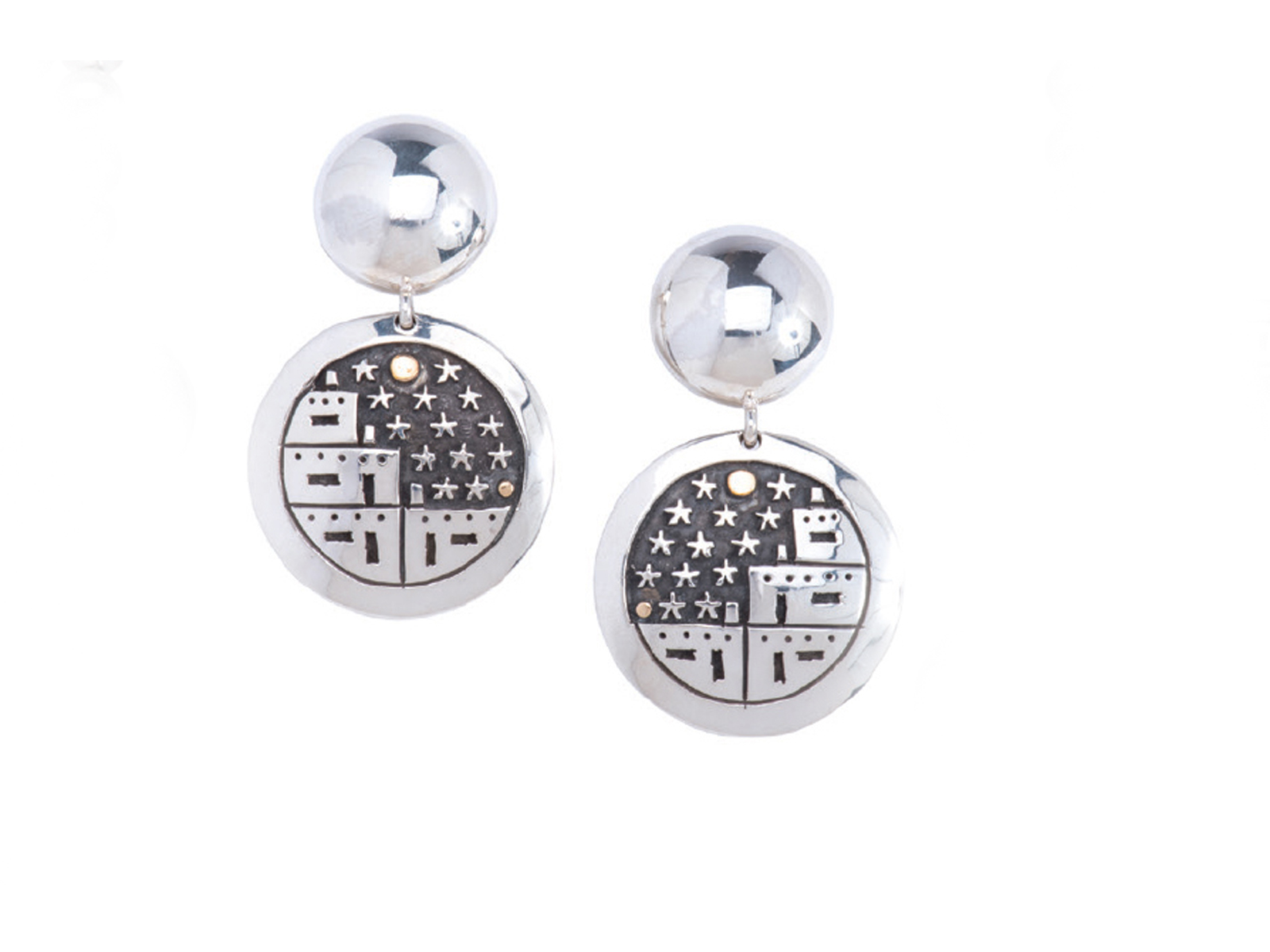 Starry Night Pueblo Earrings