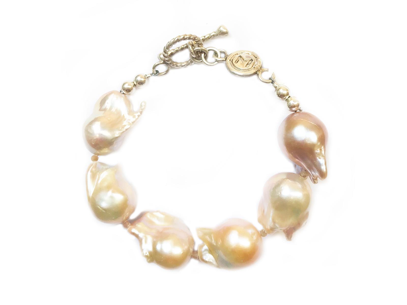 Pink Baroque Pearl Bracelet