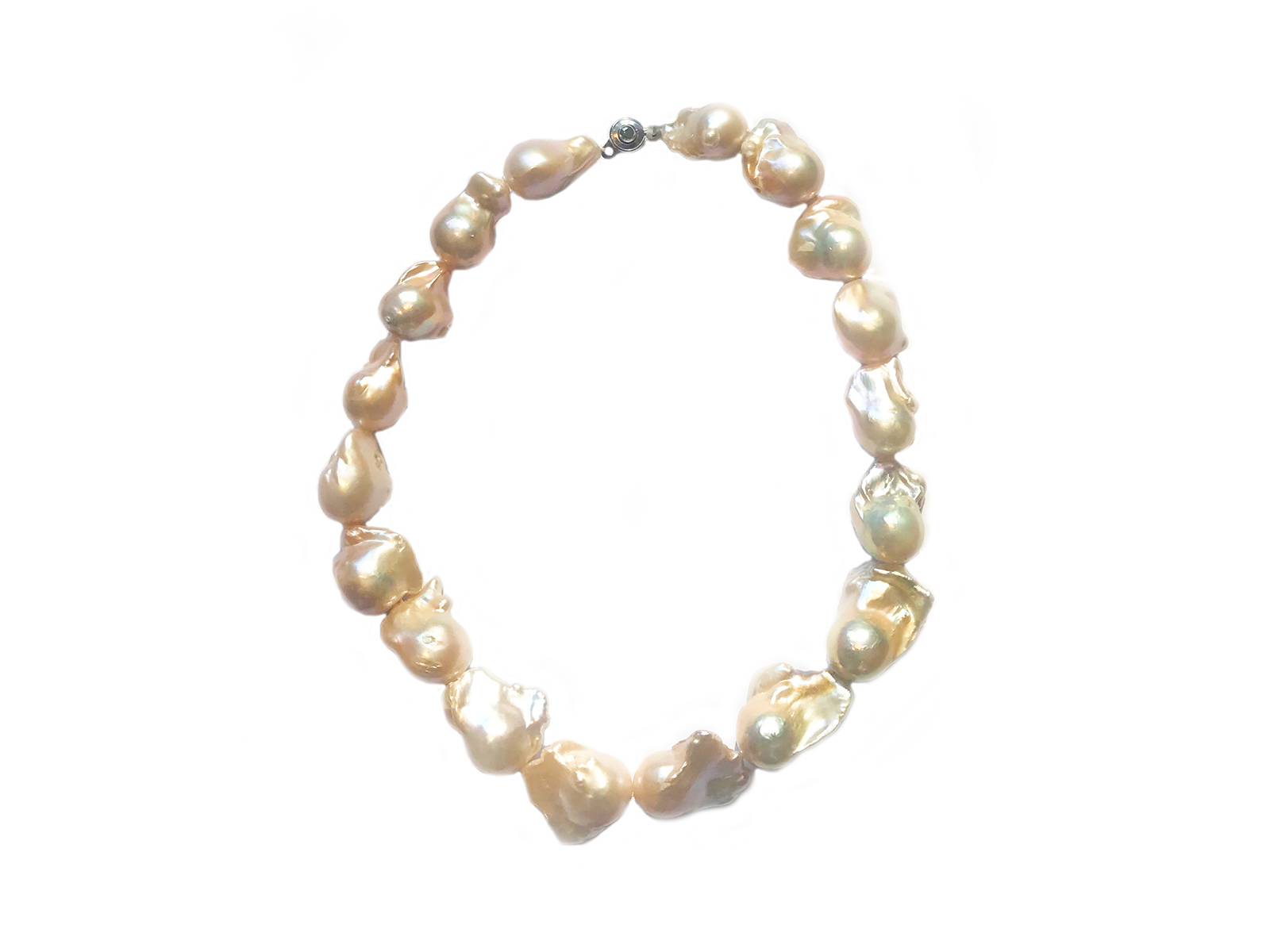 Pink Baroque Pearl Strand 18""