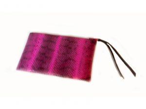 Pink Python Clutch