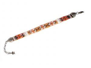 Pink Scroll Beaded Bracelet