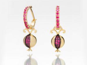 Pomegranate Ruby Earring Charm