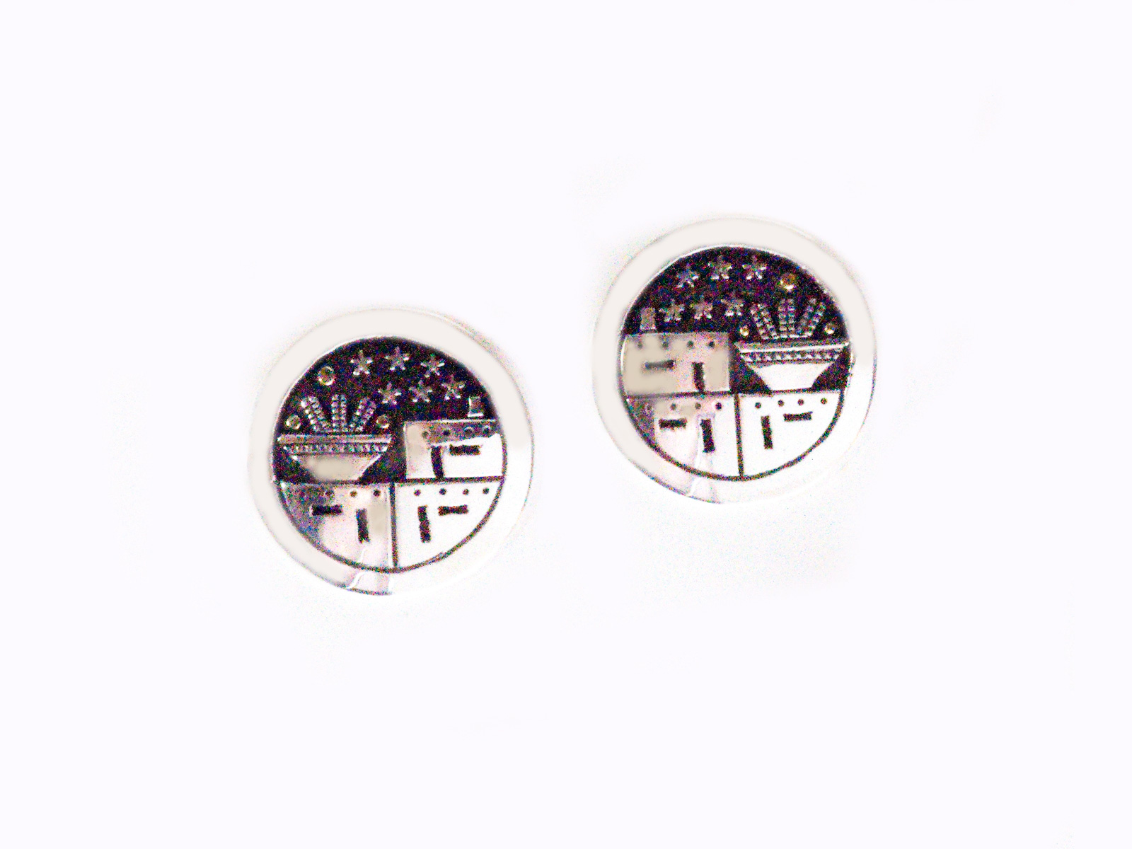 Silver Harvest Night Post Earrings