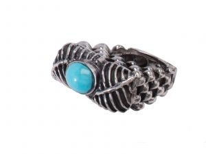 Sterling Silver Ring with Turquoise Stone by Dian Malouf