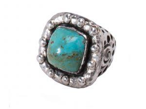 Dian Malouf Kingman Turquoise Ring