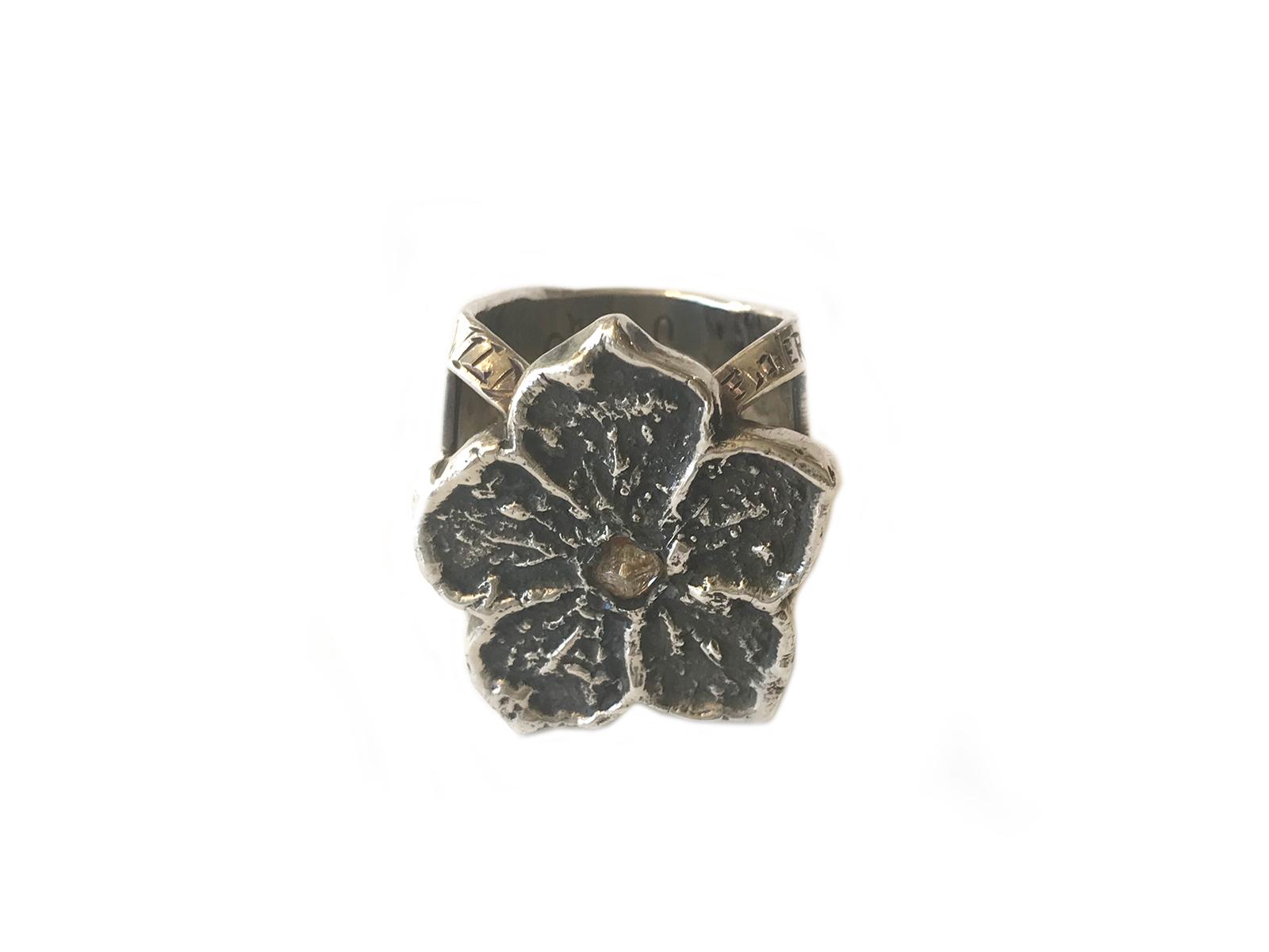 Desert Rose Raw Diamond Ring