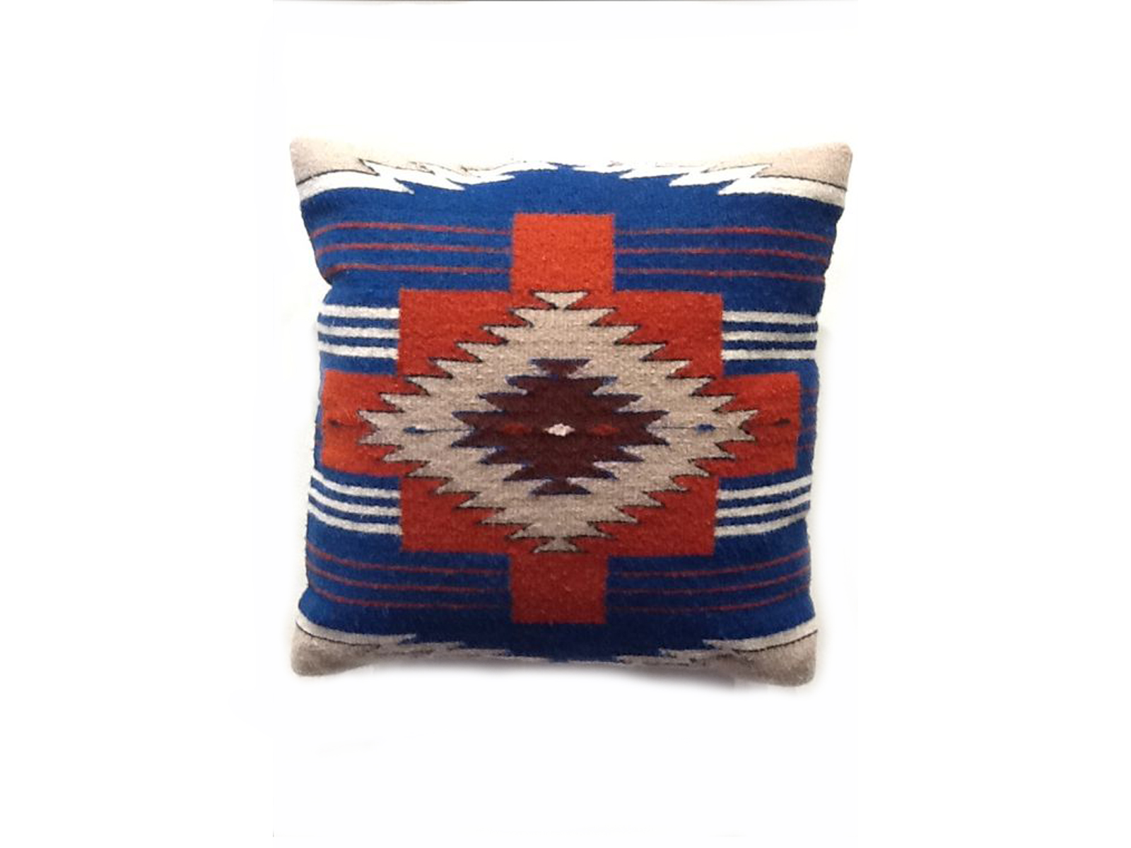 Southwestern Pillows And Rugs : Red and Blue Southwestern Design Zapotec Pillow