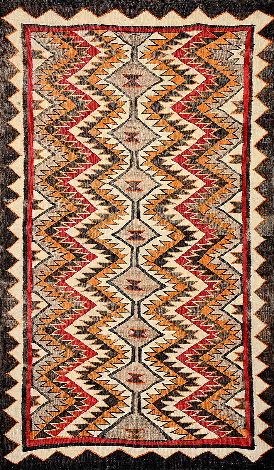 red mesa outline navajo weaving cira 1930 weaver unknown
