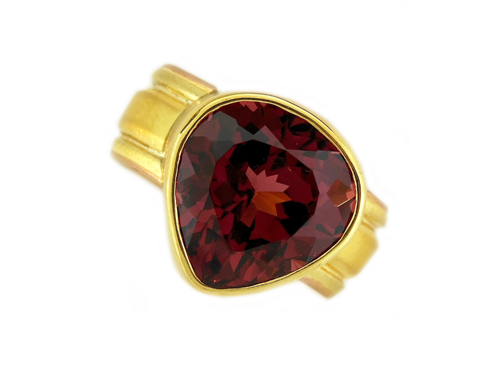 Gold Rhodolite Garnet Ring