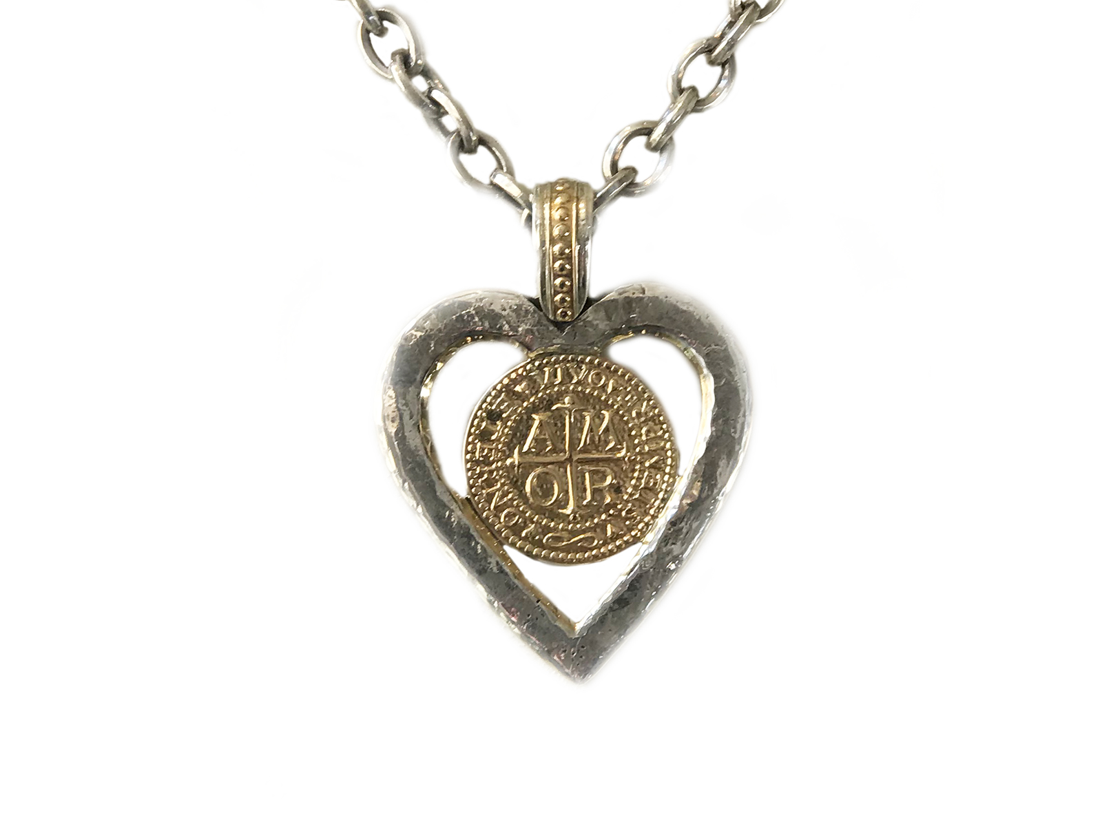 Amor Silver Gold Heart Pendant