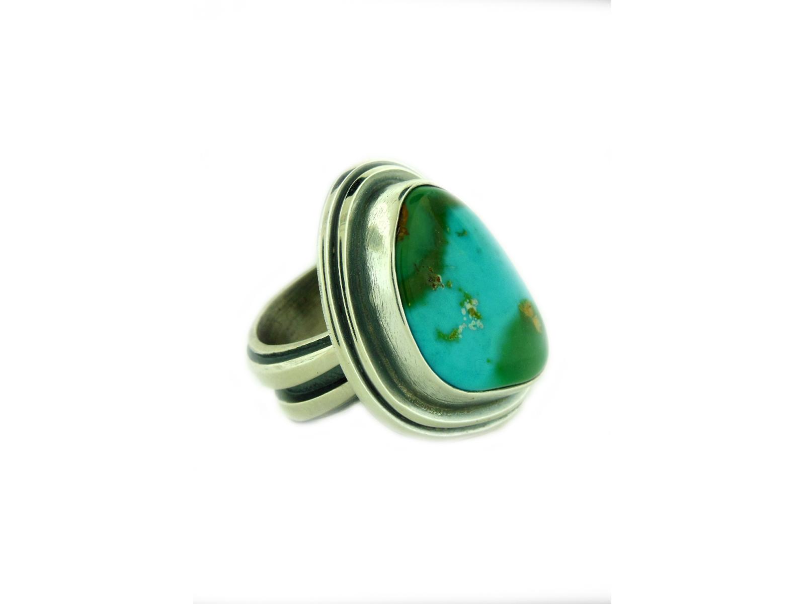 Natural Cerrillos Turquoise Ring