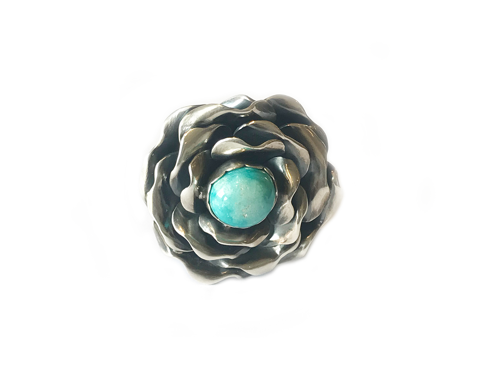 Silver Cathedral Rose Ring