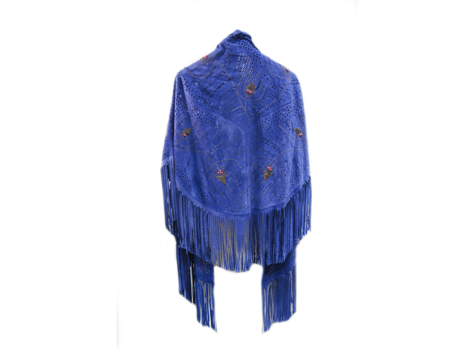 Royal Blue Suede Shawl