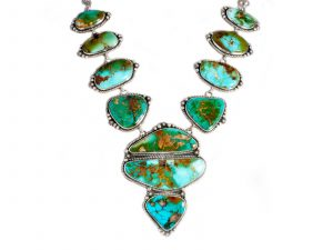 11 Stone Royston Turquoise Statement Necklace