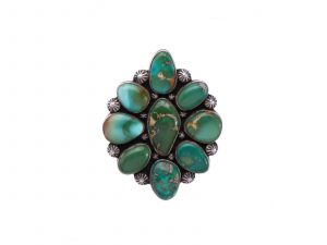 Royston Turquoise Cluster Ring