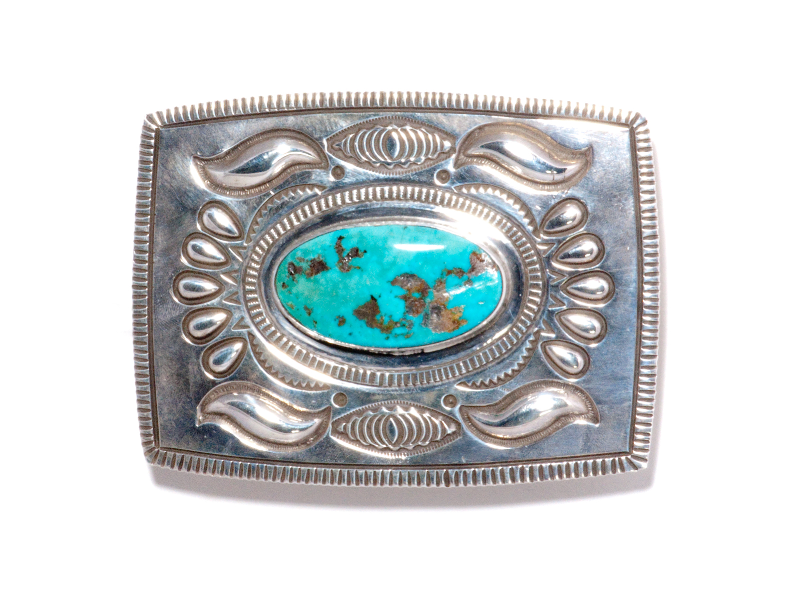 Royston Turquoise Silver Buckle