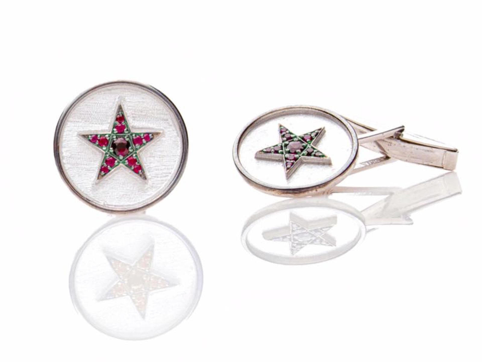 Ruby Star Cufflinks