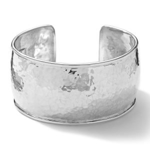 Glamazon® Sterling Silver Hammered Flat Cuff