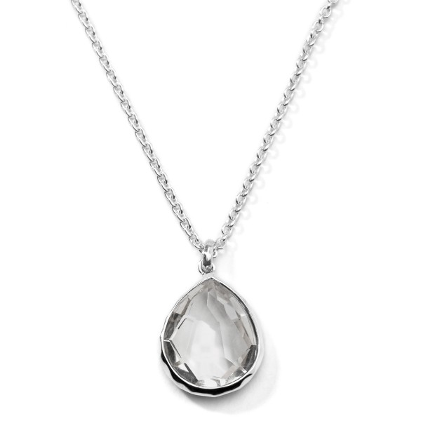 Candy sterling silver large teardrop pendant necklace 16 18 rock candy sterling silver large teardrop pendant necklace 16 18 mozeypictures Gallery