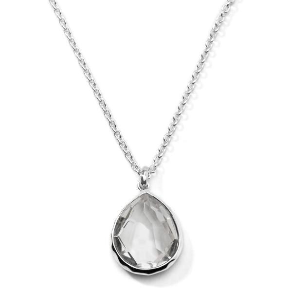Rock candy sterling silver large teardrop pendant necklace 16 18 aloadofball Choice Image