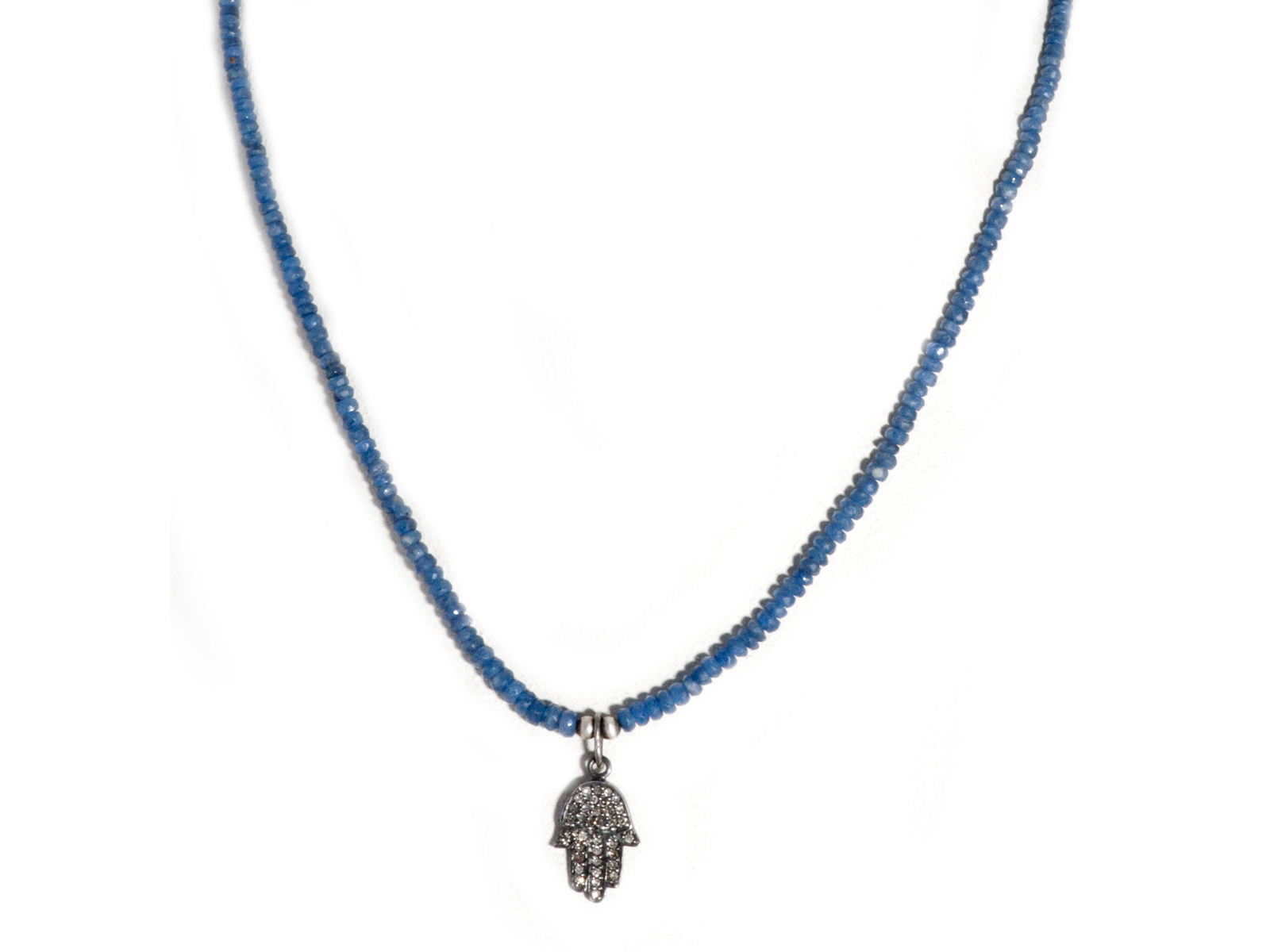 karma products kind beaded company selected sapphire necklace