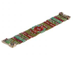 Sapphire Peridot Beaded Bracelet