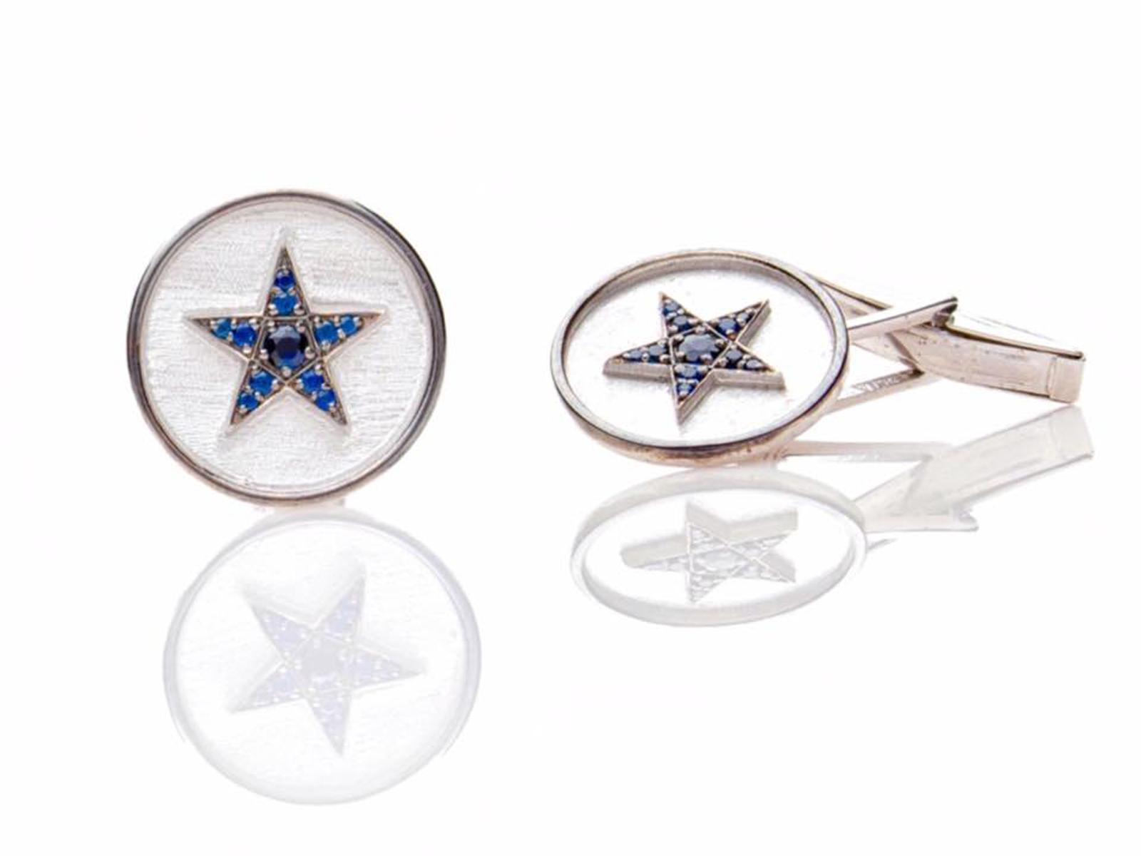 Sapphire Star Cufflinks
