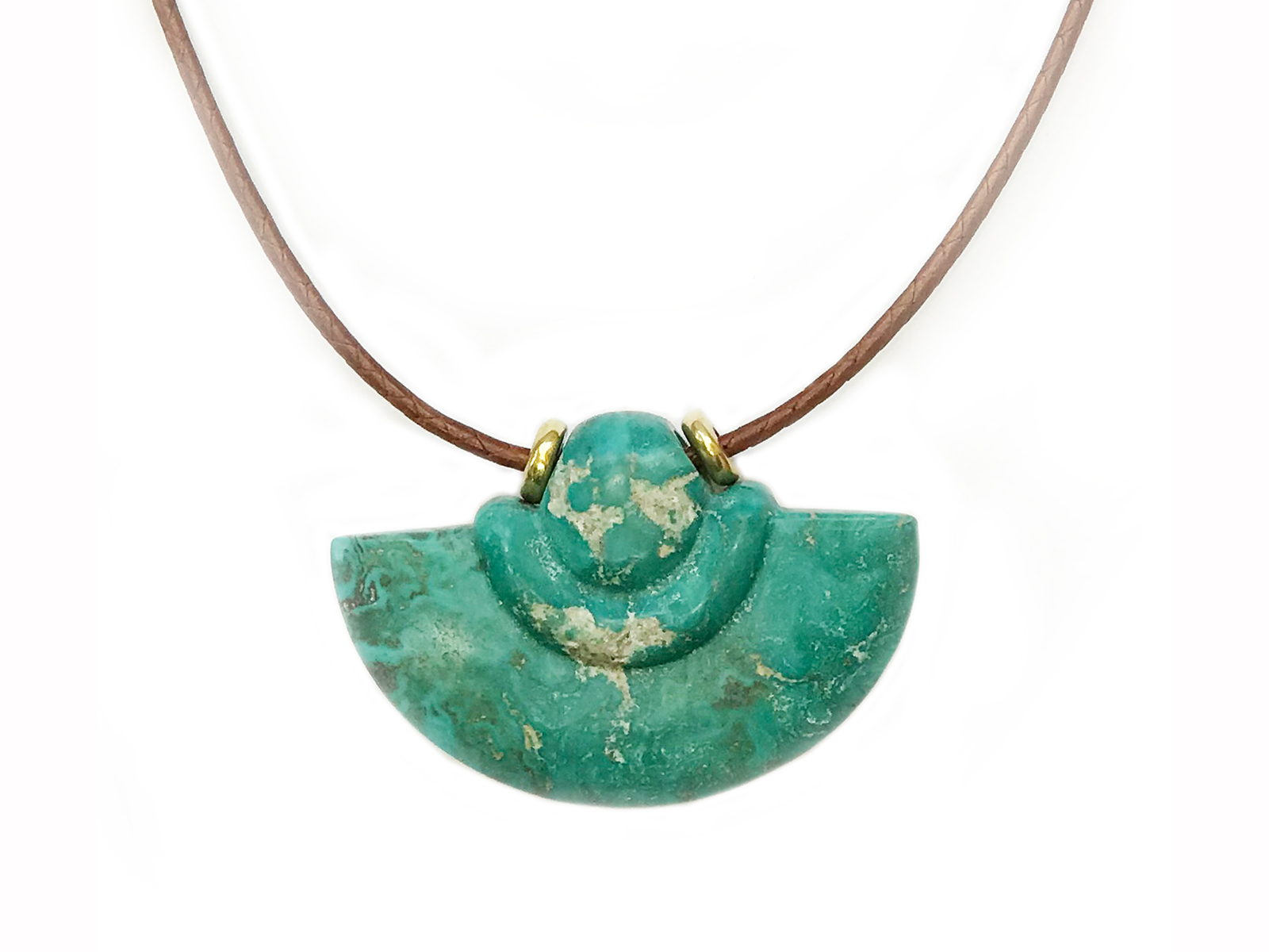 Turquoise Mountain Axe Pendant